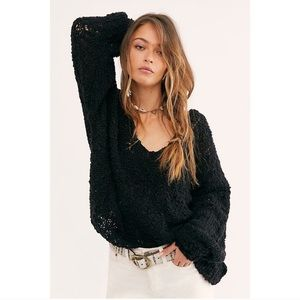NWT Free People Sunday Shore Cotton Blend Sweater